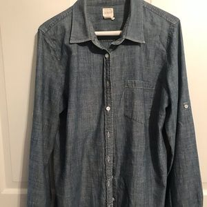 Women's J Crew denim shirt size L